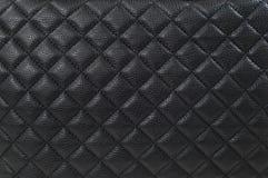 Черные кожаные предпосылка/текстура Стоковые Фотографии RF