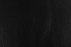 Черные кожаные предпосылки текстуры Стоковые Фото
