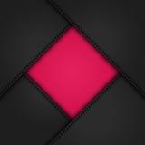 Черные кожаные углы на pink2 Стоковая Фотография RF