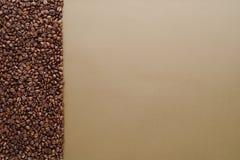 Черные кофейные зерна Стоковое Фото