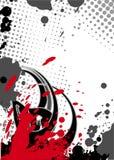черные красные цветы фантазии Стоковое Изображение RF