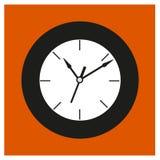 Черные круглые часы старого стиля Стоковое Изображение