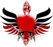 черные крыла красного цвета пожара Стоковые Фото