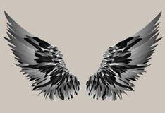 черные крыла также вектор иллюстрации притяжки corel биографической иллюстрация вектора