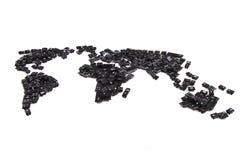 черные клавиши на клавиатуре как карта мира Стоковые Фото
