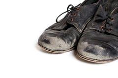Черные латинские ботинки танца бального зала Стоковое фото RF