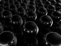 черные минимальные сферы Стоковое Изображение