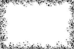 черные многоточия обрамляют белизну Стоковые Фотографии RF