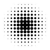 черные многоточия Стоковое фото RF