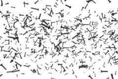 Черные мужские винты изолированные на бело- творческой промышленной 3D иллюстрации, pic для использования дизайнера бесплатная иллюстрация