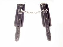 Черные наручники кожи Стоковая Фотография RF
