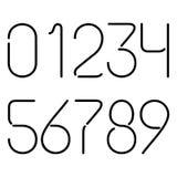 Черные неоновые номера Стоковое фото RF