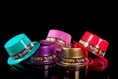 черные Новый Год шлема кануна Стоковое Фото