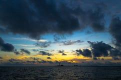 черные облака Стоковые Фотографии RF