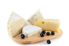 черные оливки сыра Стоковое Изображение