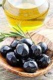 черные оливки Стоковые Фотографии RF