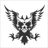 Черные орел и череп иллюстрация вектора