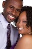 черные пары счастливые стоковое фото