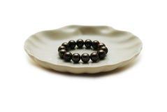 черные перлы Стоковая Фотография
