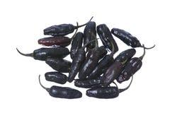 Черные перцы chili Стоковое Изображение