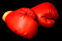 черные перчатки бокса Стоковые Изображения RF