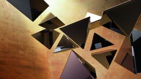 черные пирамидки 3d Стоковое фото RF