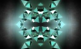 черные пирамидки 3d Стоковые Фото