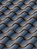 черные плитки крыши Стоковые Изображения RF