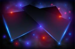 Черные поверхность пятницы абстрактные и предпосылка конспекта вектора светов Фон понедельника кибер футуристический иллюстрация вектора