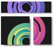 Черные предпосылки с красочной картиной кругов иллюстрация штока