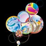 черные пузыри Стоковые Фотографии RF