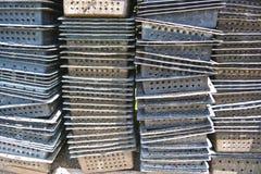 Черные пластичные корзины Стоковое фото RF