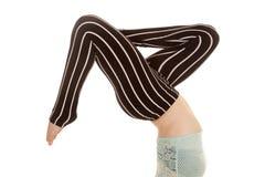 Черные разделенные ноги нашивки брюк стоковое фото rf