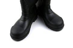 Черные резиновые ботинки Стоковые Фотографии RF