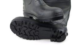 Черные резиновые ботинки Стоковое Изображение RF