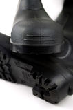Черные резиновые ботинки Стоковая Фотография