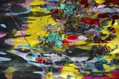 Черные розовые голубые желтые золотые темные контрасты, предпосылка waxy краски творческая стоковое фото