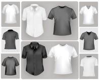 черные рубашки белые Стоковое Изображение RF