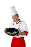 черные рыбы шеф-повара жаря присутствующее сырцовое Стоковое Фото