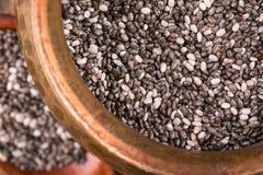 Черные семена chia стоковое изображение