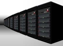 черные серверы компьютера Иллюстрация штока