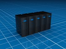 черные серверы Стоковые Изображения RF