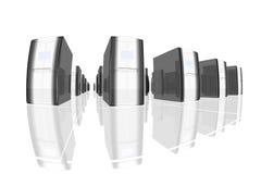 черные серверы Стоковое Изображение RF