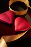 черные сердца 2 Стоковые Фото