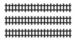 Черные символы и знаки частокола Изолированная иллюстрация вектора на белой предпосылке иллюстрация штока