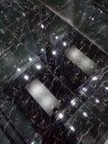 Черные сияющие новые плитки конструируют стоковое фото rf
