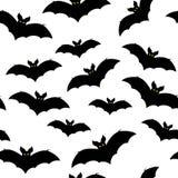 Черные силуэты летучих мышей, вектора Стоковое Изображение RF