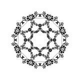 Черные силуэты для каллиграфического дизайна Рамки вектора изолированные на белизне Элемент дизайна меню и приглашения Стоковое Изображение