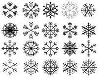Черные снежинки вектора Иллюстрация вектора