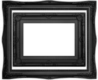 Черные современные рамки Стоковые Фото